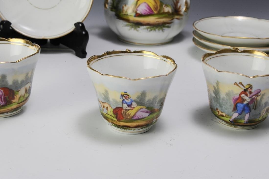Unmarked Continental Porcelain Tea Set (16) - 2