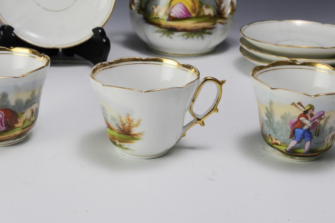 Unmarked Continental Porcelain Tea Set (16) - 3