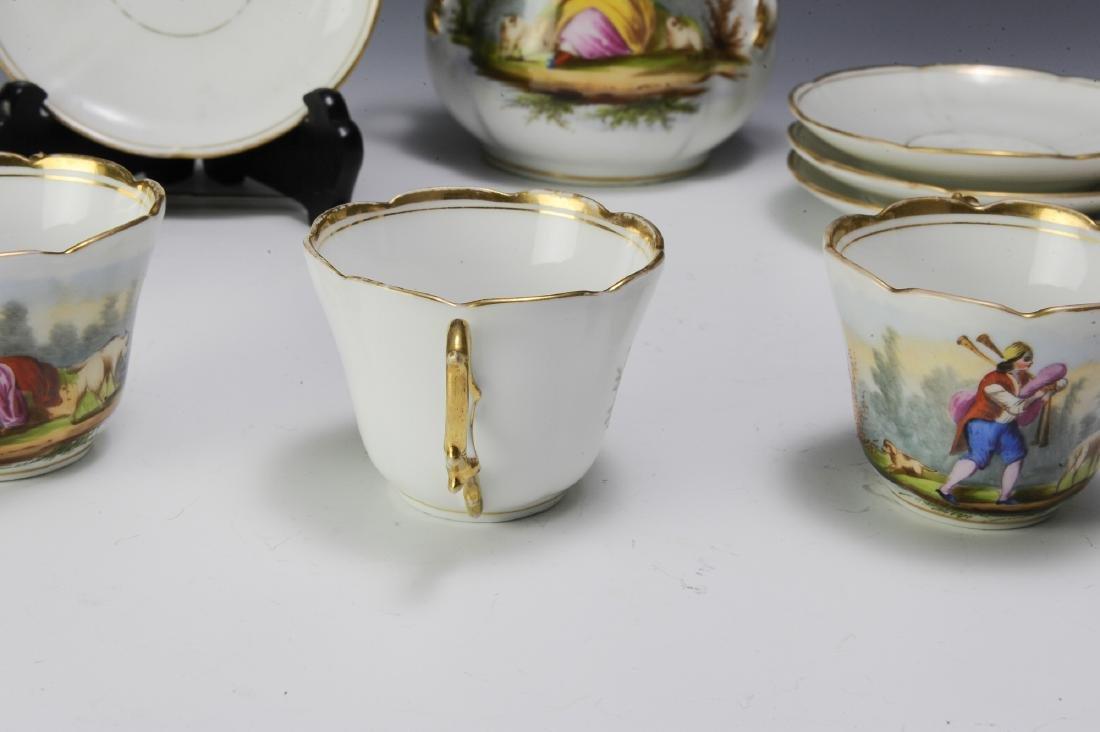 Unmarked Continental Porcelain Tea Set (16) - 4