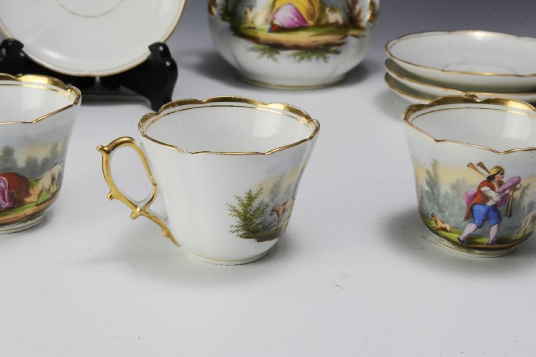 Unmarked Continental Porcelain Tea Set (16) - 5