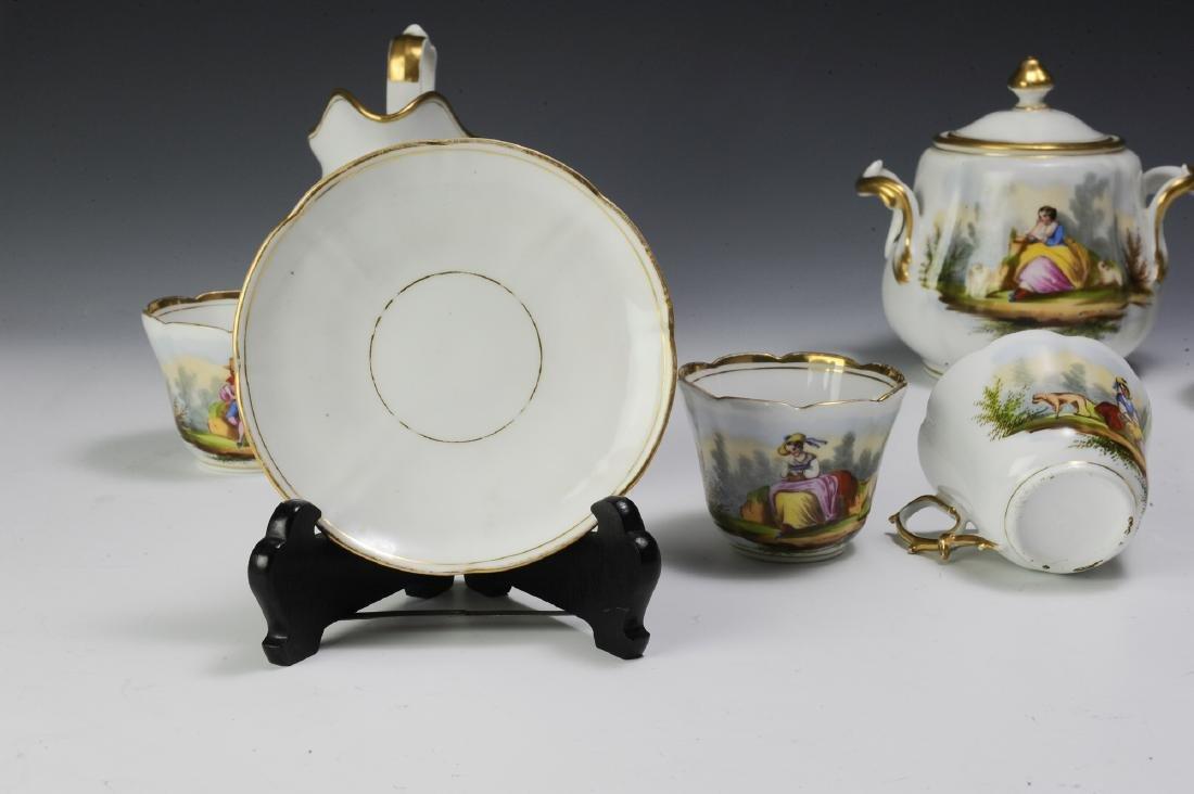 Unmarked Continental Porcelain Tea Set (16) - 7