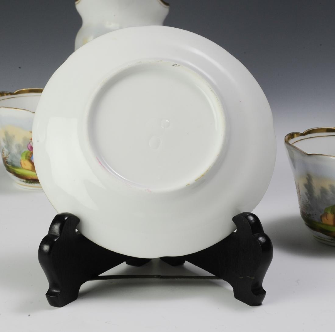 Unmarked Continental Porcelain Tea Set (16) - 8