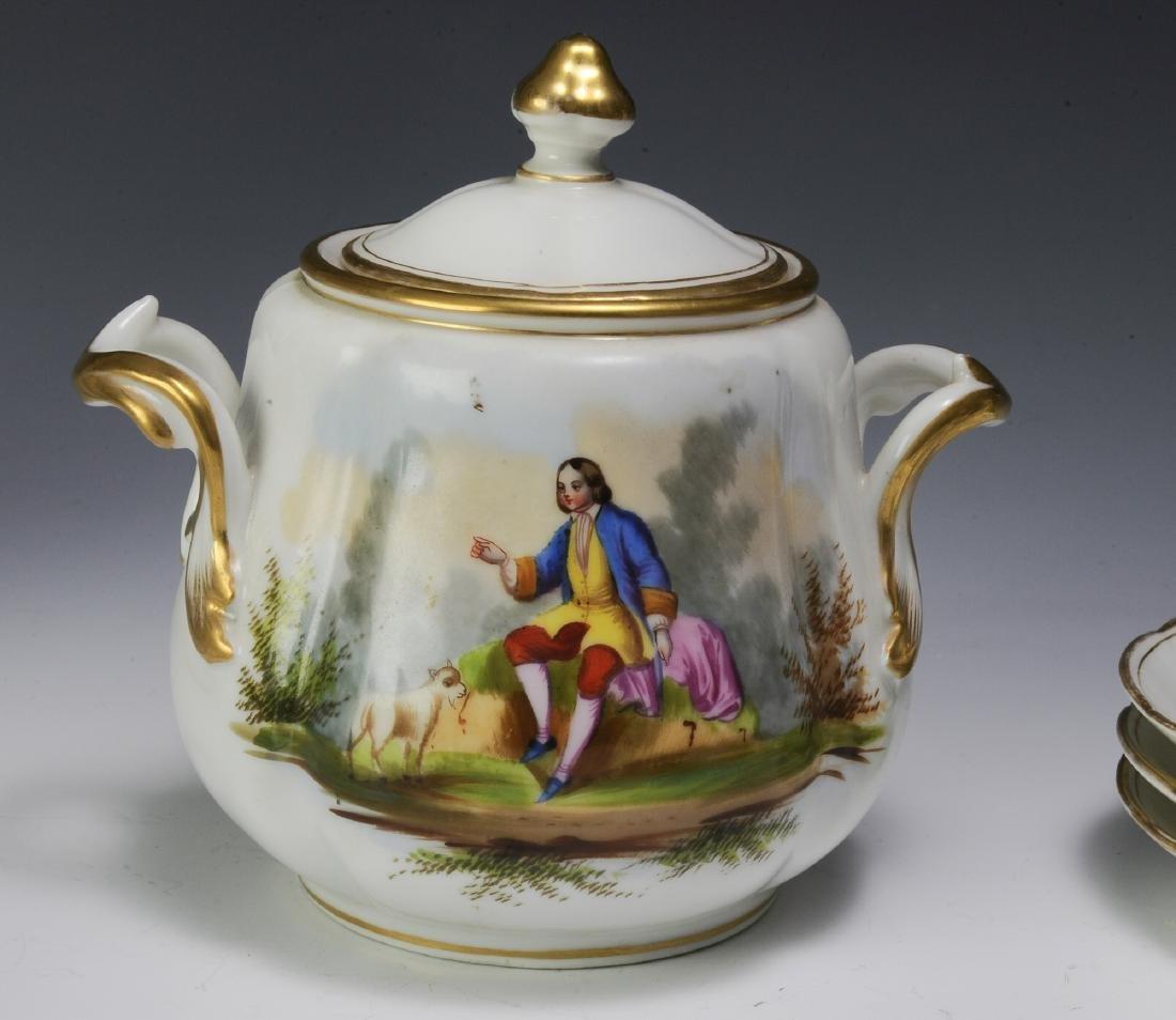 Unmarked Continental Porcelain Tea Set (16) - 9