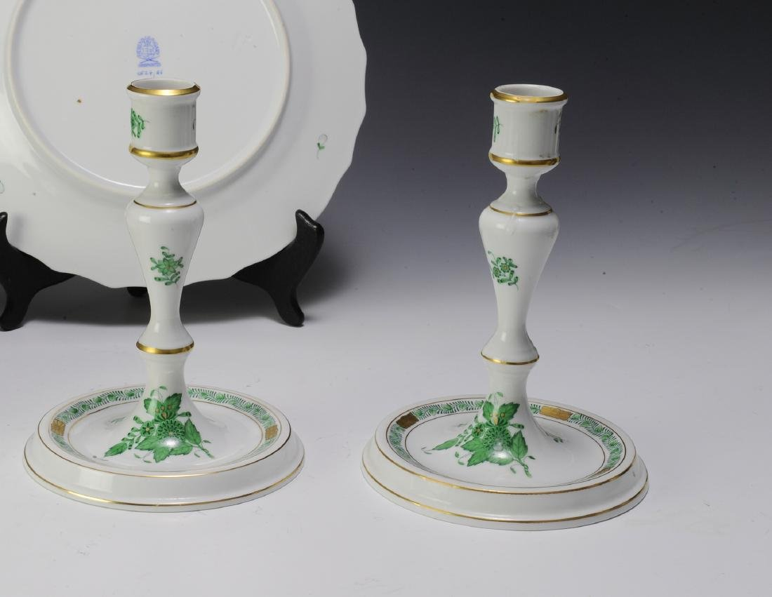 Herend Green Chinese Bouquet Pattern Porcelain - 4
