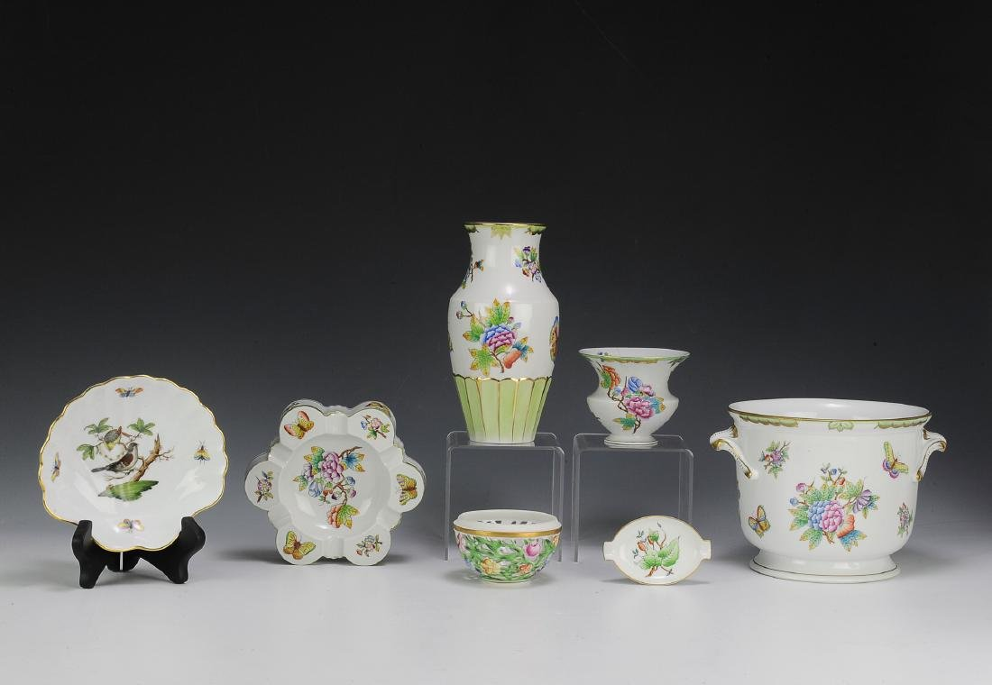 Seven Pieces of Herend Porcelain