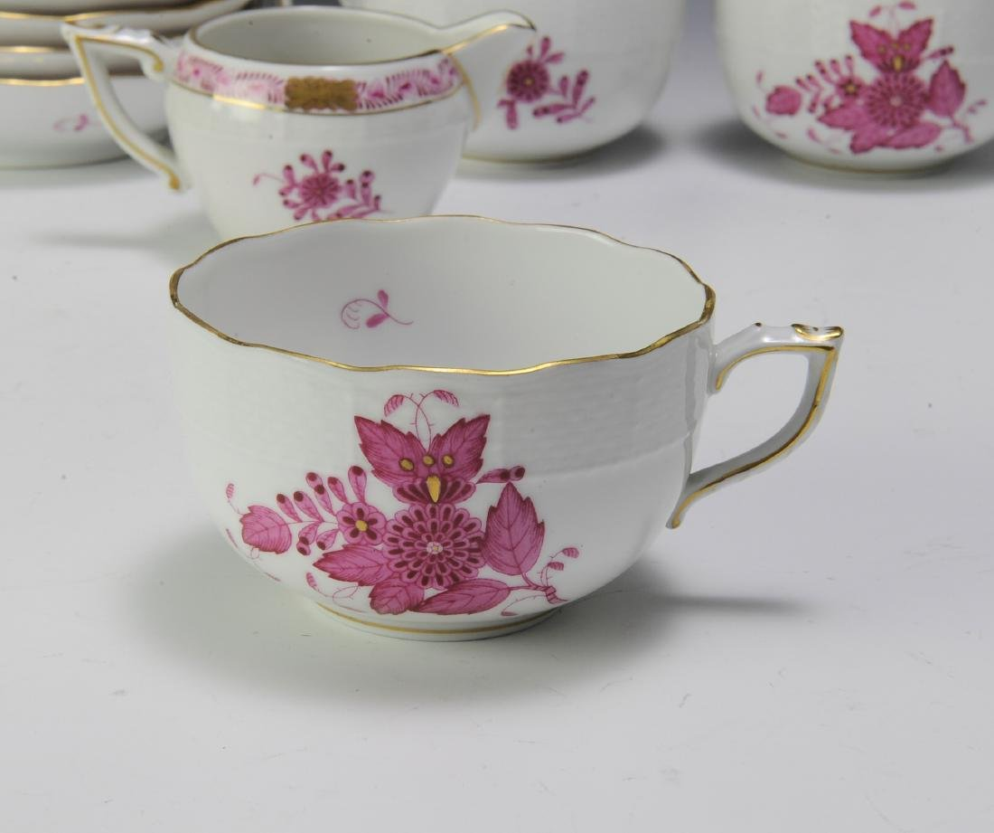 Herend Raspberry Chinese Bouquet Coffee Set (16) - 3