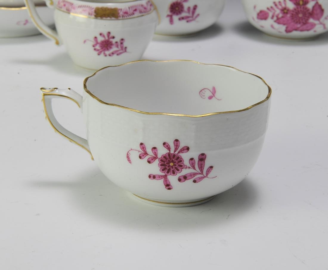Herend Raspberry Chinese Bouquet Coffee Set (16) - 5