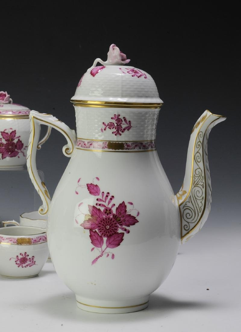 Herend Raspberry Chinese Bouquet Coffee Set (16) - 8