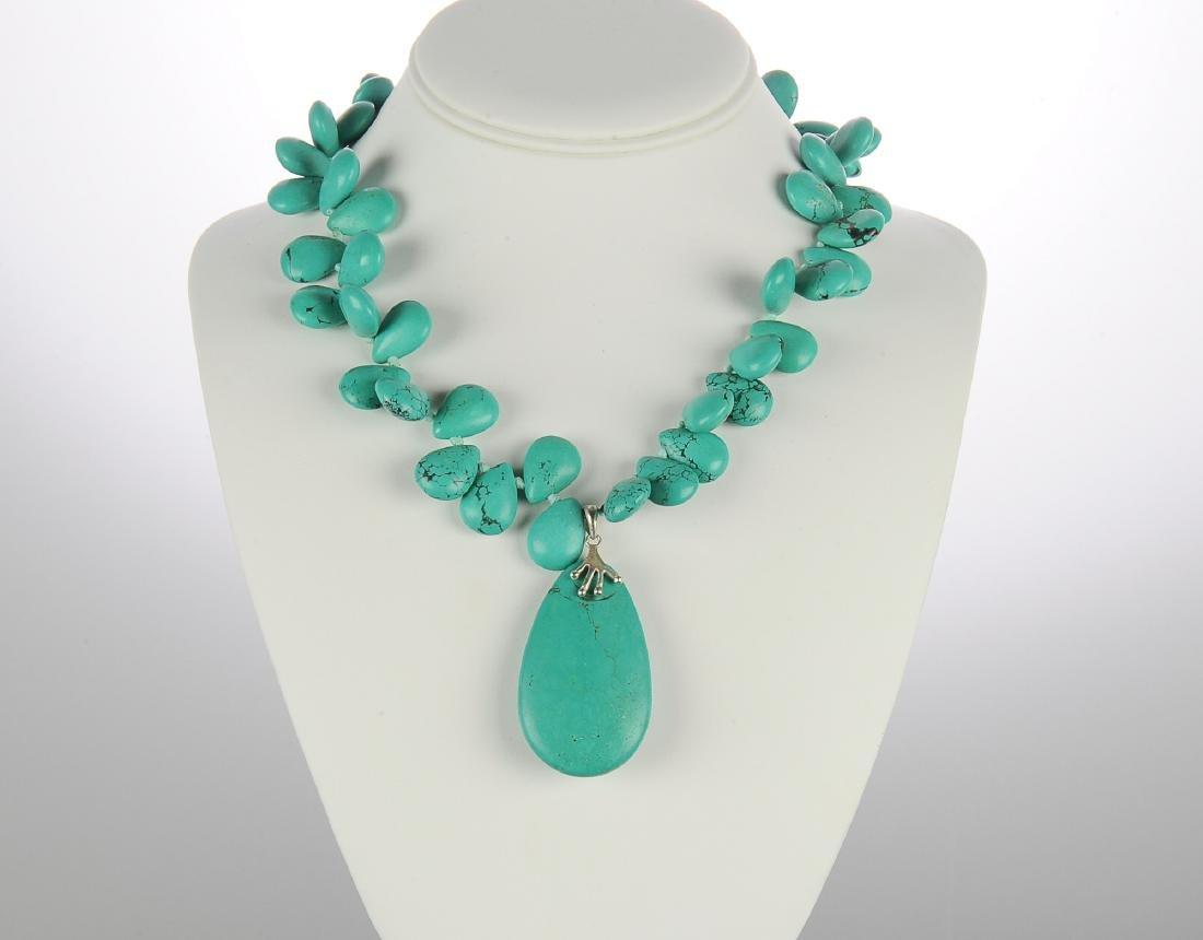 Turquoise Multi Stone Necklace