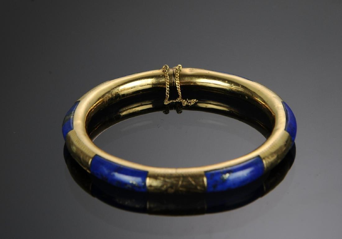 14K Gold and Lapis Lazuli Bracelet - 2