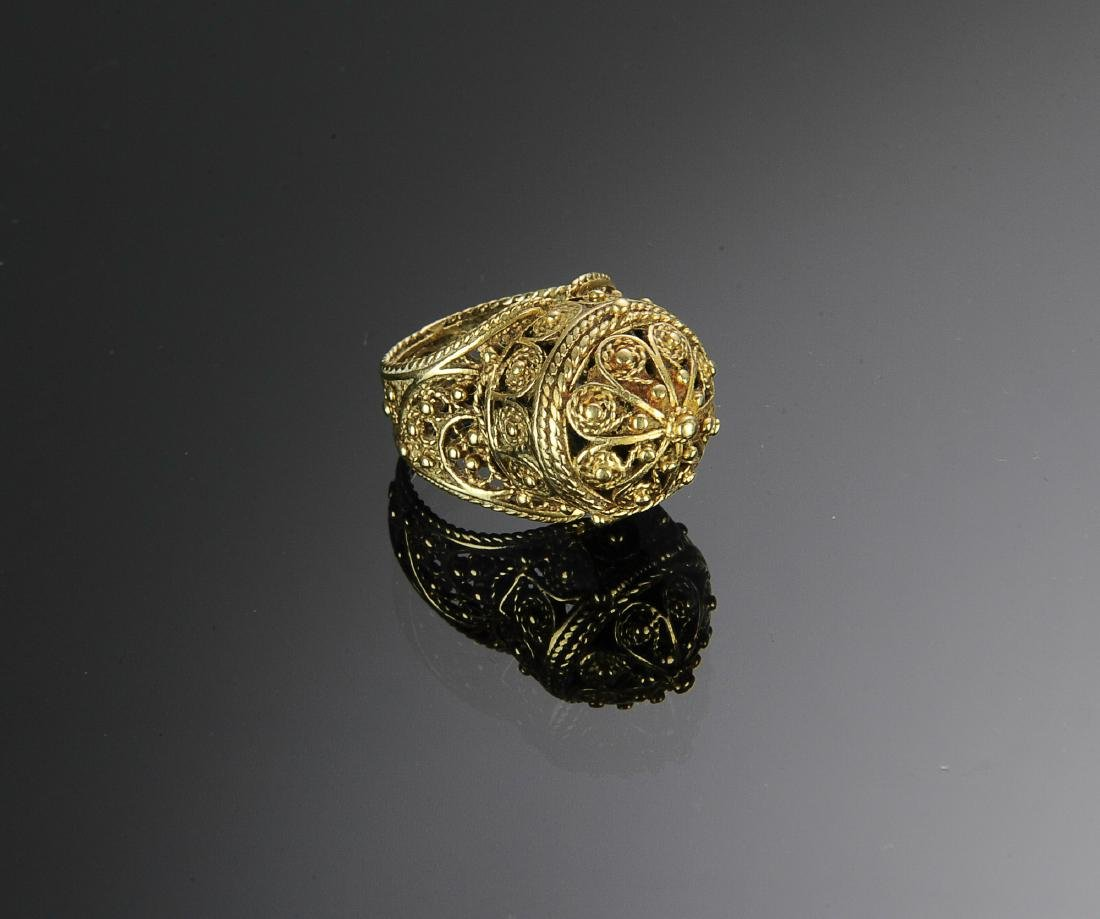 A 14K Gold Victorian Ring