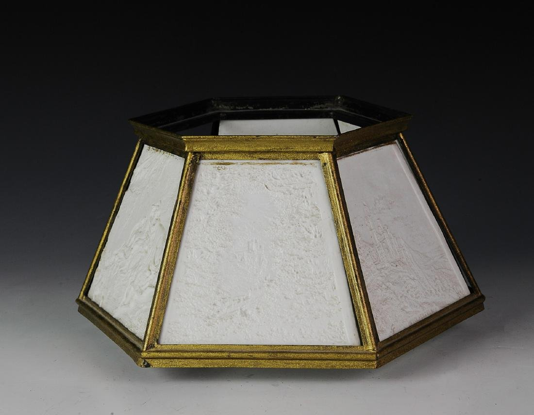 Lithopane Lamp Shade, Damaged
