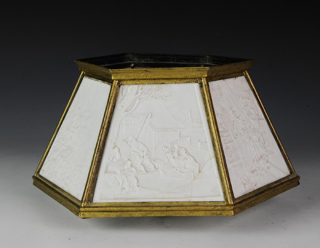 Lithopane Lamp Shade, Damaged - 3