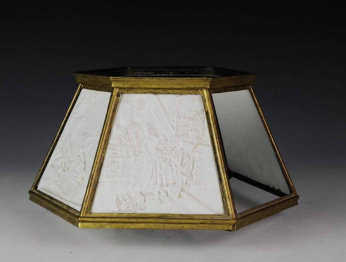 Lithopane Lamp Shade, Damaged - 4