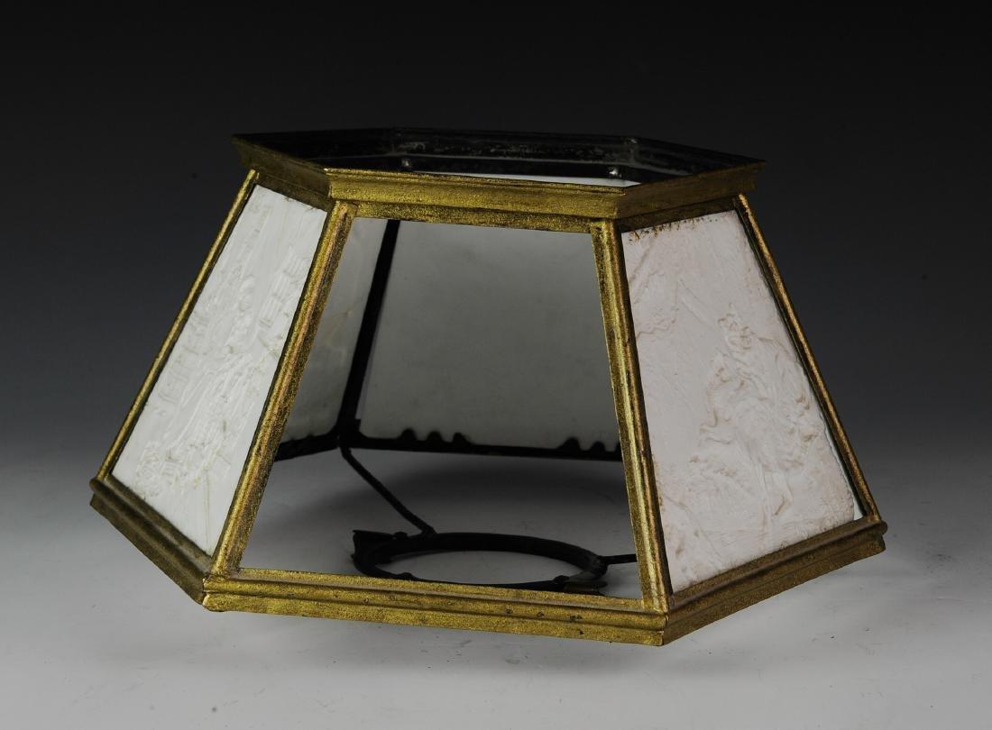Lithopane Lamp Shade, Damaged - 5