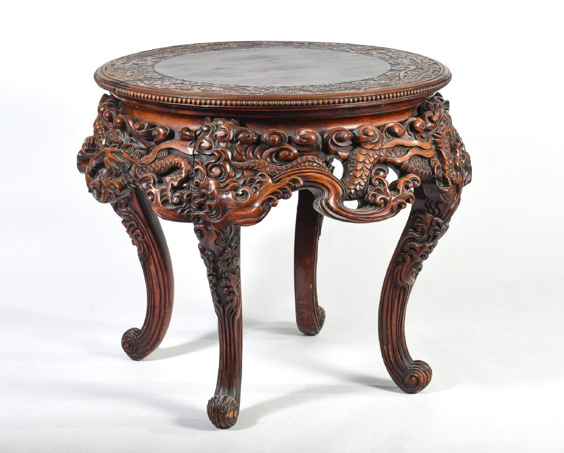 Japanese Carved Table