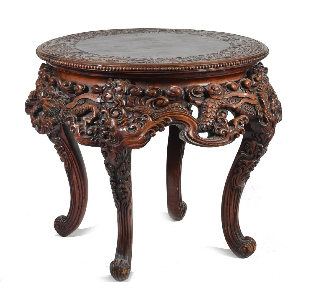 Japanese Carved Table - 6