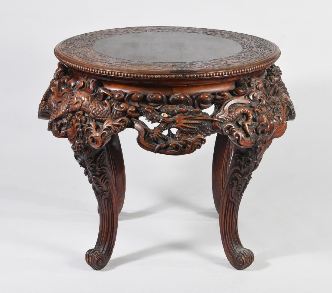Japanese Carved Table - 7