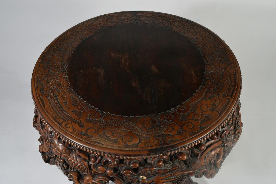Japanese Carved Table - 9