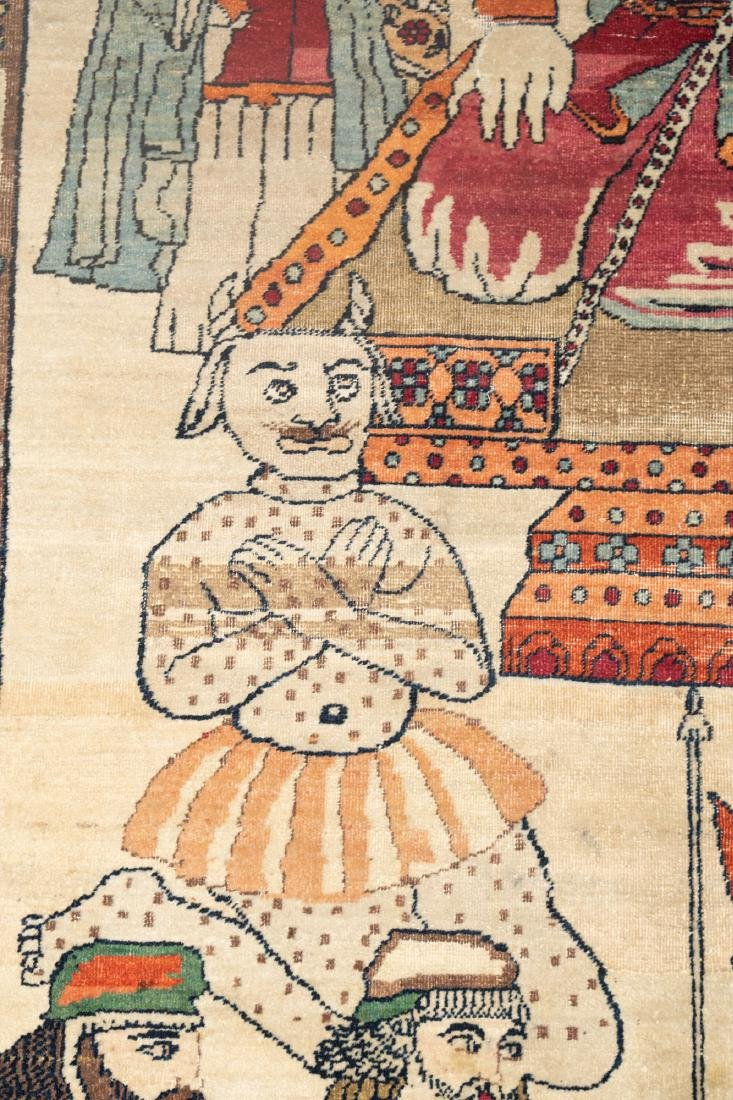 A Fine Antique Kerman Pictorial Rug - 3