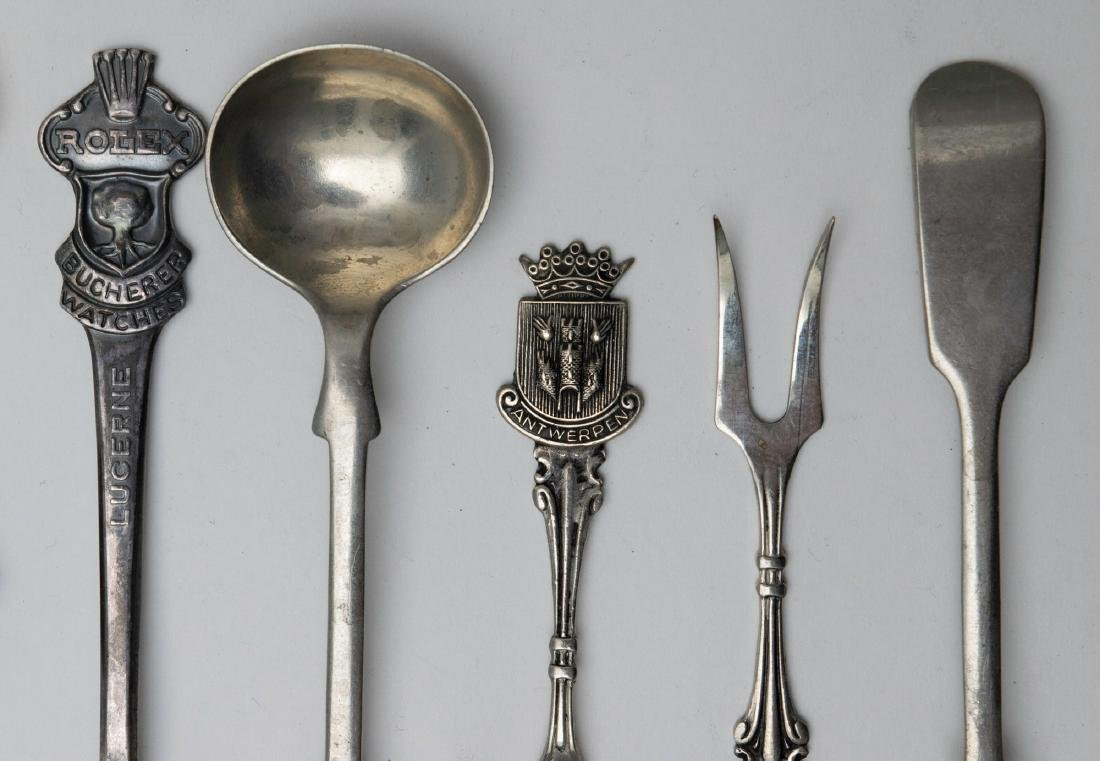 A Lot of Sheffield Plate and MOP Handle Flatware - 2