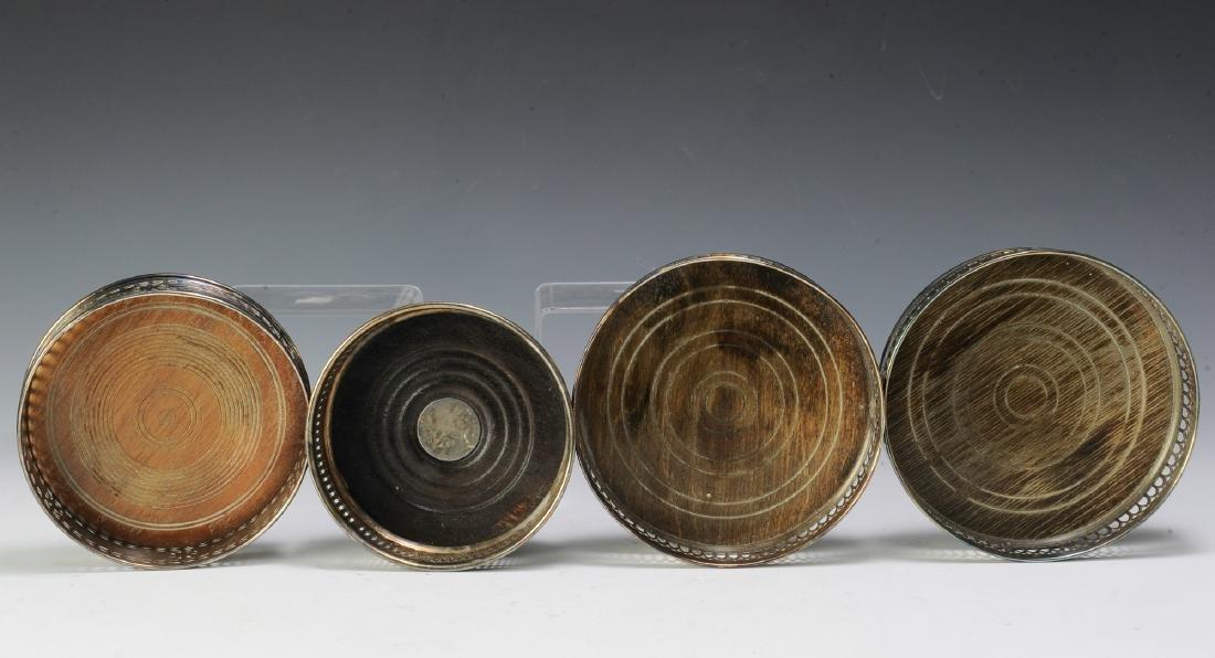 Four Silver Plate Edwardian Wine Coasters - 2
