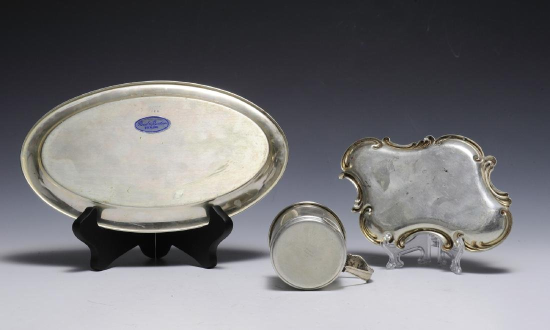 Two Sterling Trays & Sterling Cup - 2