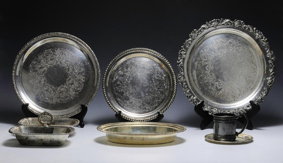 Seven Pieces of American Silver Plate