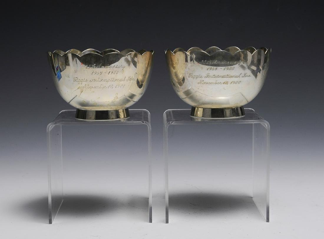 Two Sterling Silver Anniversary Bowls