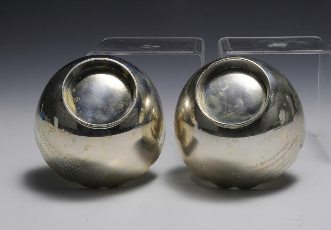 Two Sterling Silver Anniversary Bowls - 3