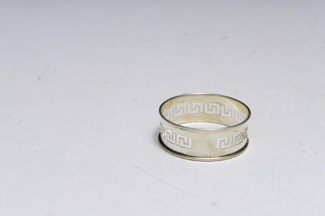Seven English Sterling Silver Napkin Rings - 10