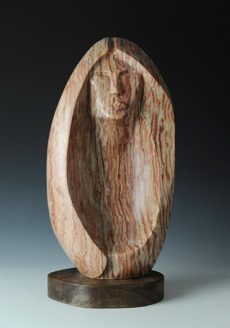 Alabaster Sculpture of Woman by Lorne Fineday