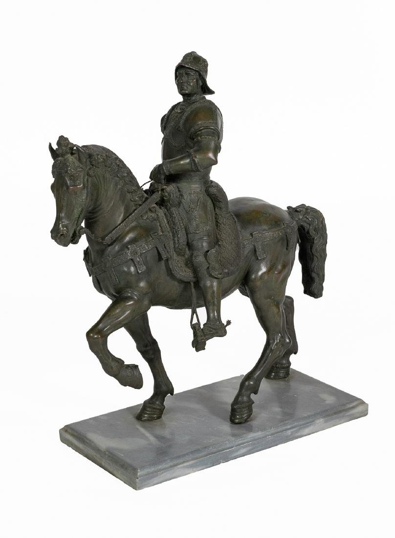 Bronze Sculpture of a Mounted Conquistador