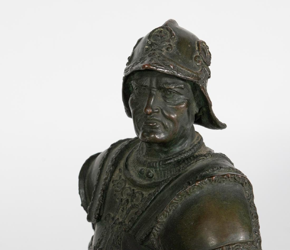 Bronze Sculpture of a Mounted Conquistador - 2