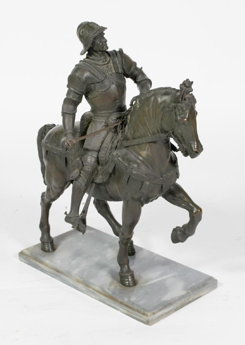 Bronze Sculpture of a Mounted Conquistador - 5