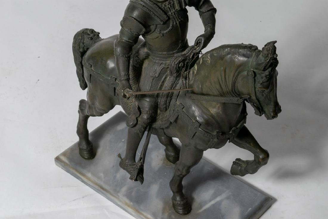 Bronze Sculpture of a Mounted Conquistador - 6