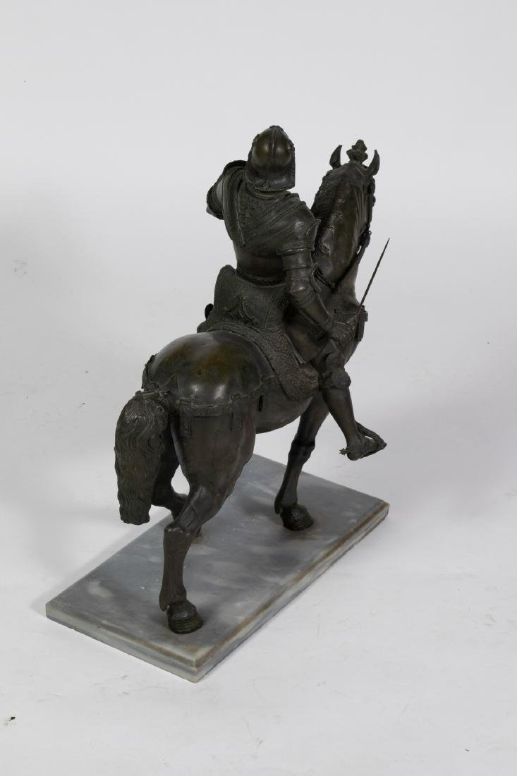Bronze Sculpture of a Mounted Conquistador - 7