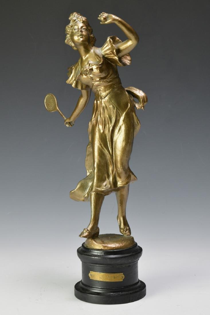 """Well Caught"" Spelter Figure of a Tennis Player"