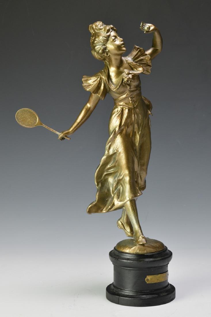 """Well Caught"" Spelter Figure of a Tennis Player - 2"