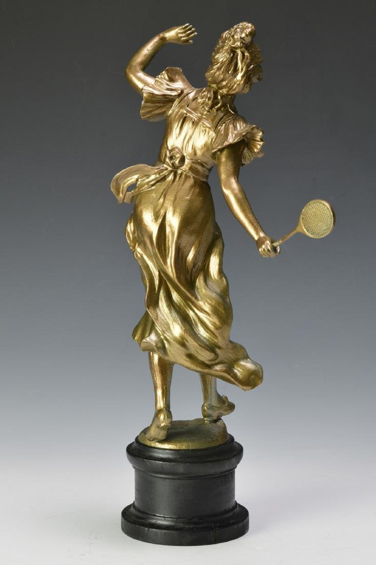 """Well Caught"" Spelter Figure of a Tennis Player - 3"