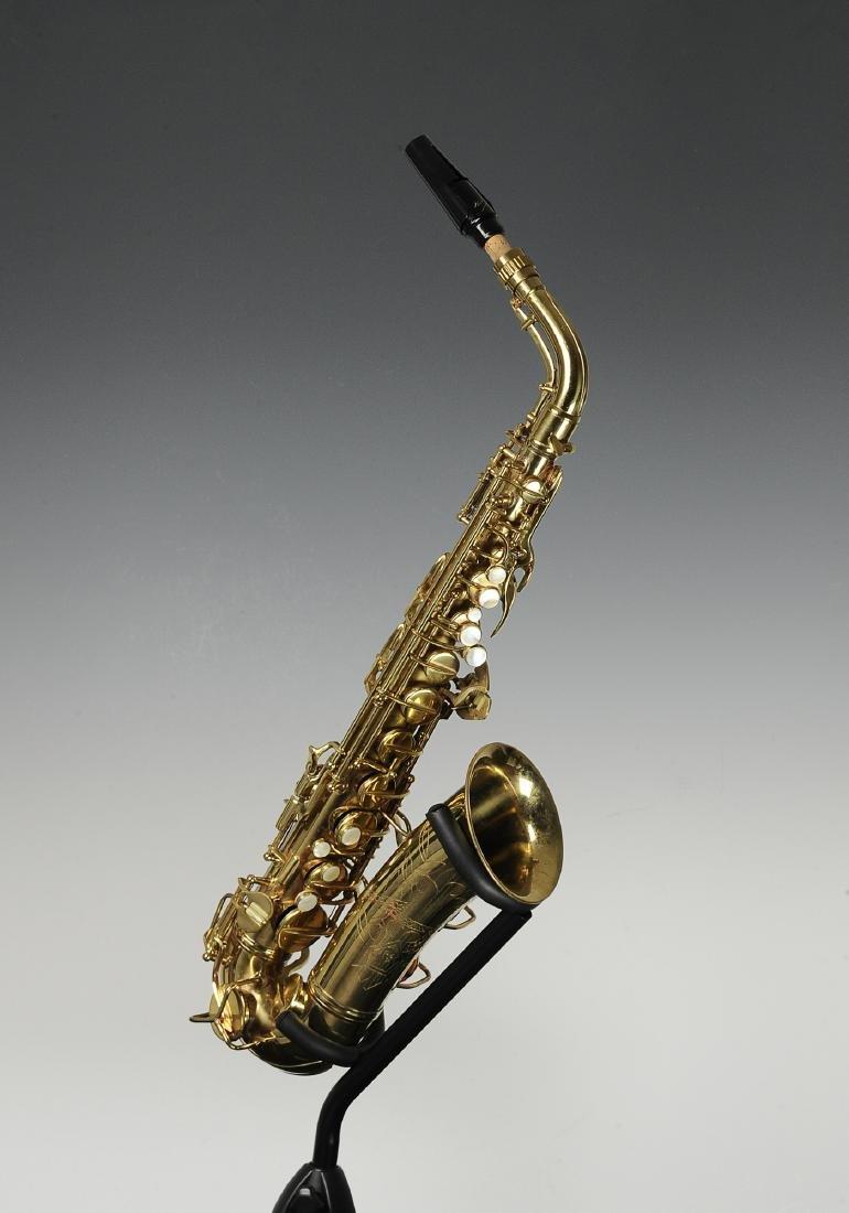 Cased C. G. Conn Alto Saxophone Model 6M