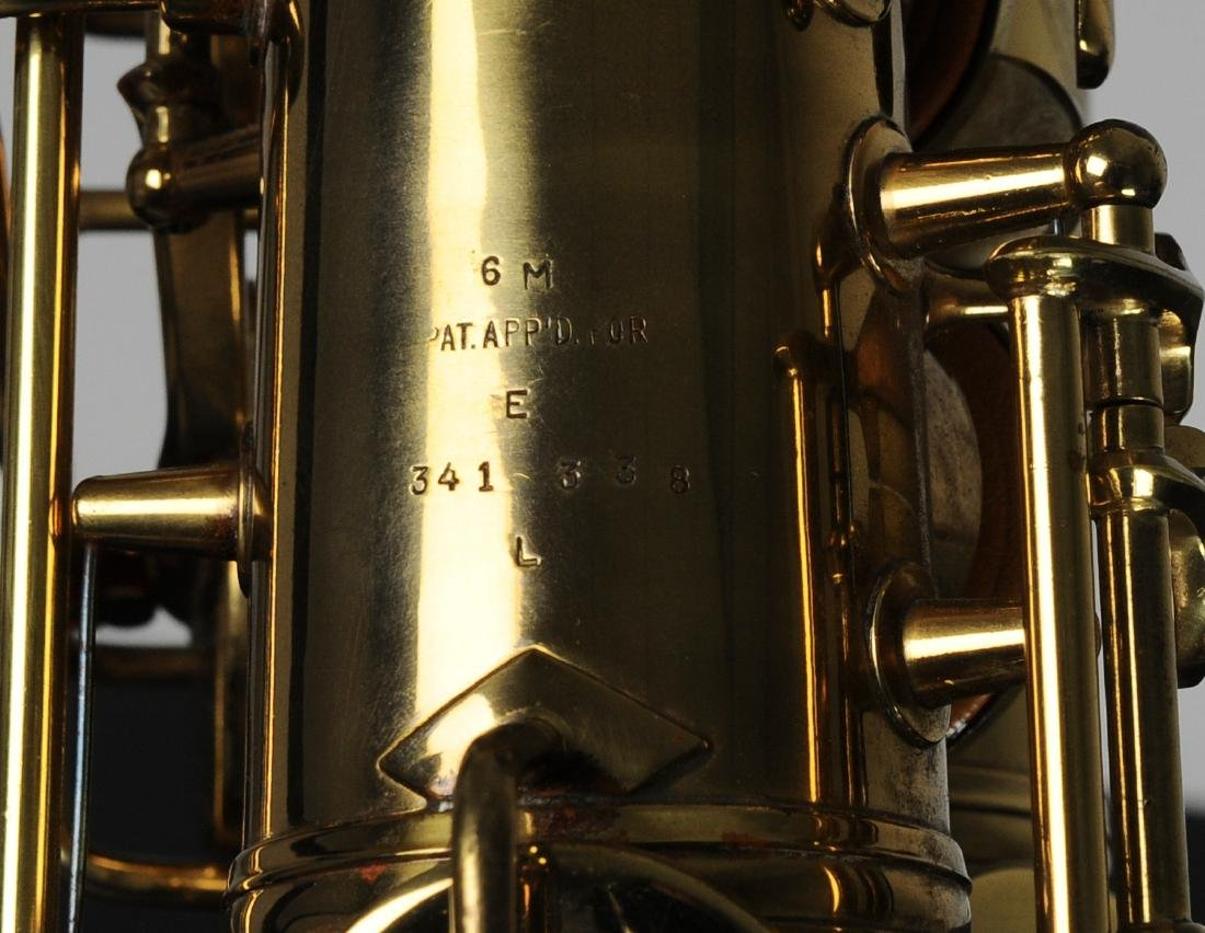 Cased C. G. Conn Alto Saxophone Model 6M - 3