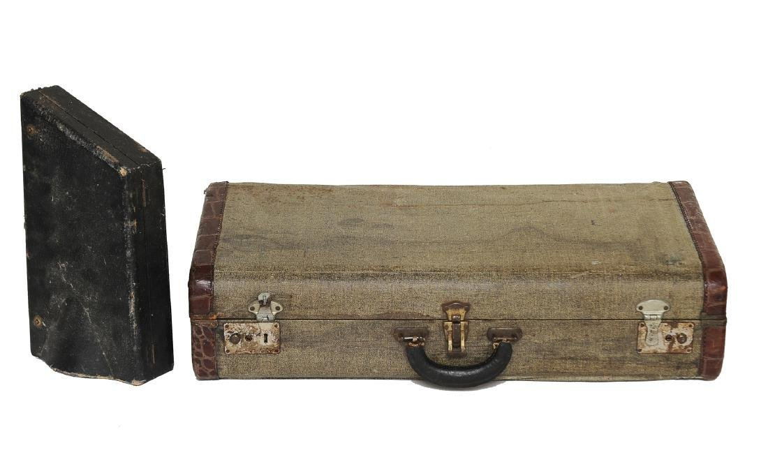 Two Old Saxophone Cases Owned by Rudy Vallee