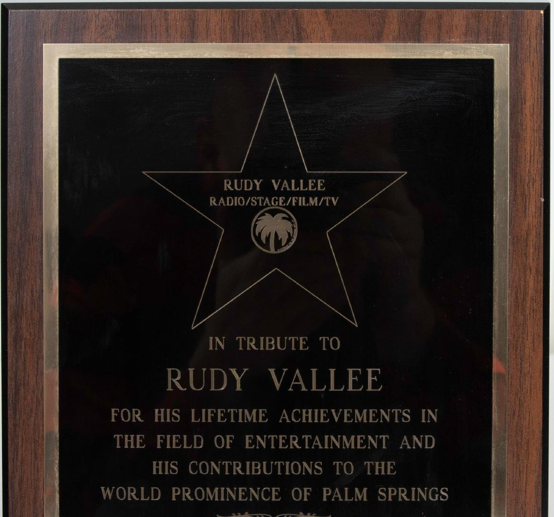 Tribute Plaque to Rudy Vallee from Palm Springs - 2