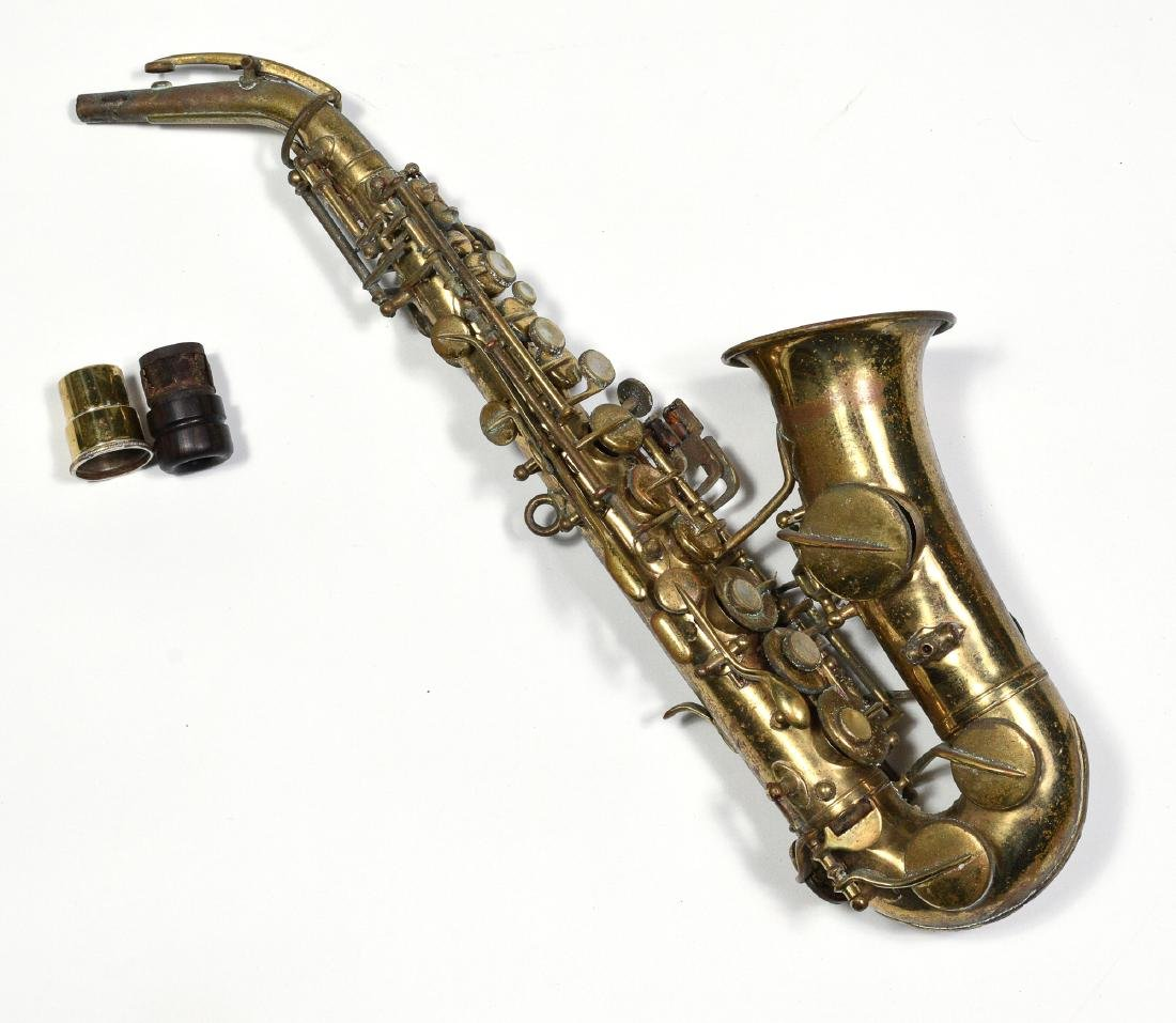 Small Soprano Saxophone Owned by Rudy Vallee