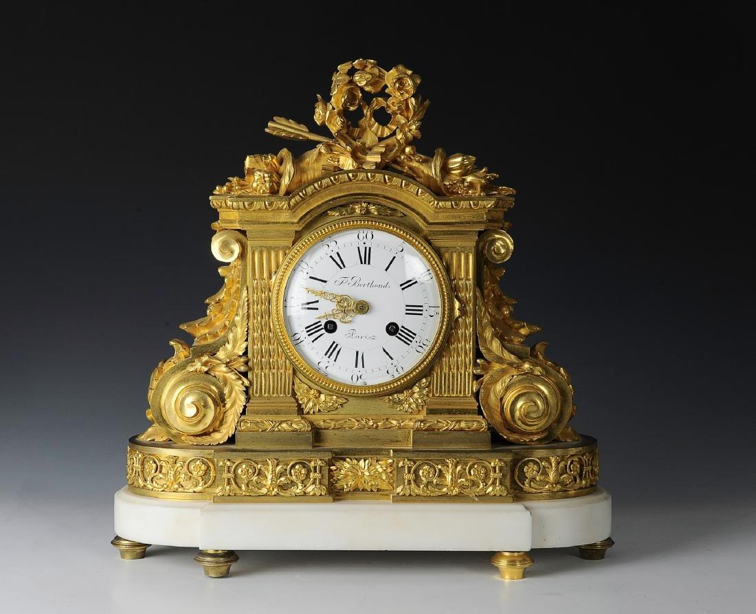 19th Century Berthoud Gilt Bronze Mantel Clock