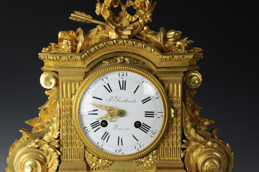 19th Century Berthoud Gilt Bronze Mantel Clock - 2
