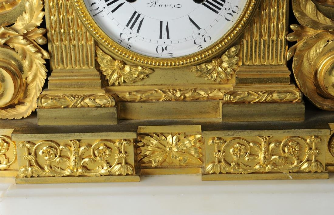 19th Century Berthoud Gilt Bronze Mantel Clock - 3