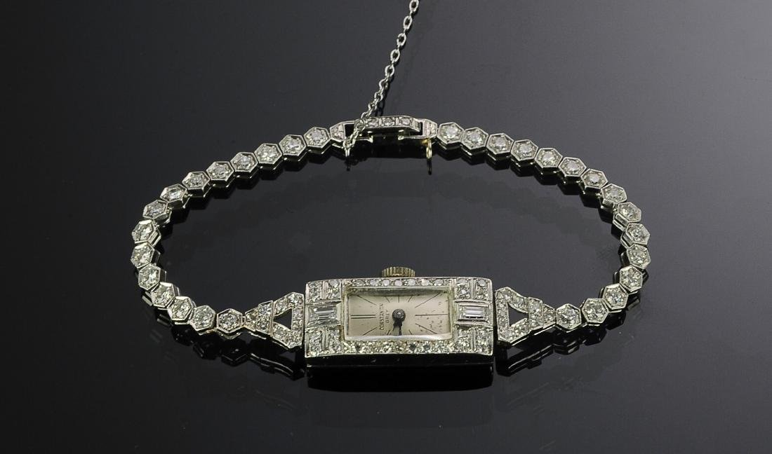 Art Deco Diamond & Platinum Ladies Wristwatch - 2