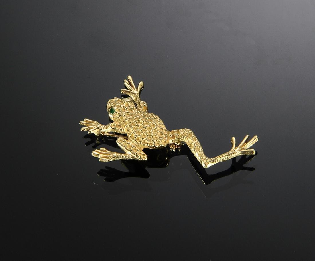 A 14K Gold Frog Pin